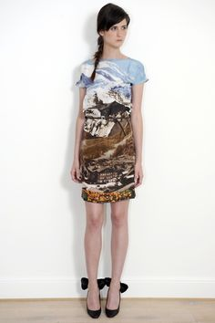 60s postcard print dress from the Carven Resort 2012 collection