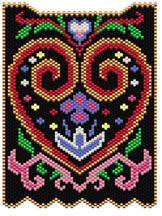 Folk Art Heart by Sigrid Wynne-Evans