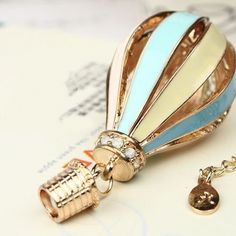Fashion Jewlery Fire balloon Shape Lovely Chain Necklace