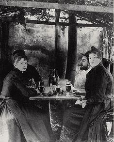 Toulouse-Lautrec and frequent model, La Goulue, at Moulin de la Galette, Montmartre, Paris