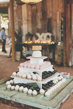 cute cupcake wedding tower
