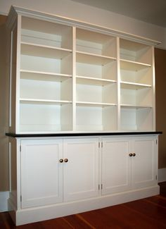 bookcase/cabinet for basement.  remove shelves or tv