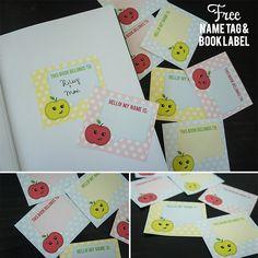 GRATIS Etiqueta y etiqueta del libro imprimible