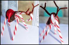 Make a Candy Cane Reindeer