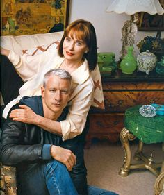 Gloria Vanderbilt and son Anderson Cooper - cousins to Sagamore's Vanderbilt family not, as is commonly guessed, the Gloria for whom our popular Gloria's Cottage was built. Gloria's was built for Gloria Baker, daughter of Margaret Emerson and Raymond T Baker.