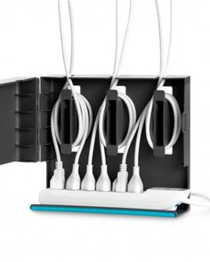 Quirky Plug Hub  Rid yourself of the rat's nest of tangled cords, plugs, and outlets with this ingenious box that separates and organizes every cord on your desk.    $29.99, quirky.com