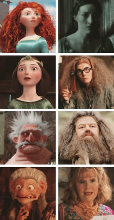 So the people who voice characters in BRAVE also played parts in Harry Potter!!!