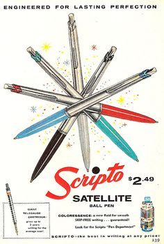 Scripto satellite pen (1958)   Source: X-ray delta one - http://www.flickr.com/photos/x-ray_delta_one