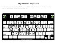 Sight Words Keyboard: Use this keyboard to type the Sight Words as you watch the Sight Word Videos by Have Fun Teaching. Print, Cut, and Laminate this keyboard for longer use.