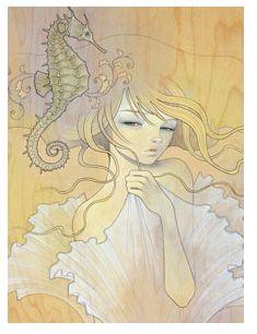 art inspir, seahors, audrey kawasaki, artist, tattoo, kawasaki art