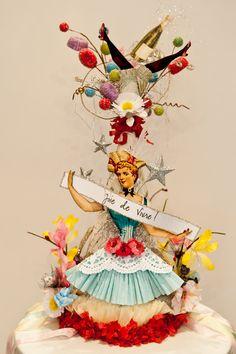 Joie de Vivre Birthday Celebration Party Hat by OvertheTopStudios, $99.00
