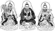 Chinese Symbols -  Three Pure Ones  http://karenswhimsy.com/chinese-symbols.shtm#