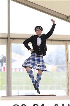 Male dancer in kilt #lennox #royal #blue #tartan