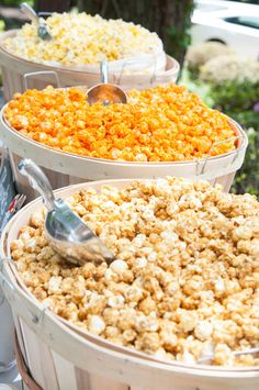 DIY Popcorn Bar!  See more party ideas at CatchMyParty.com!