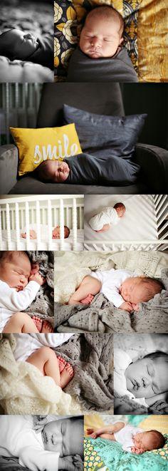at home baby photo shoot--angles