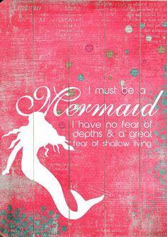Mermaid Quote Wall Art ♥