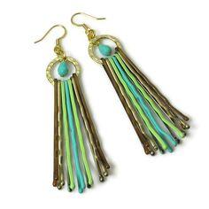 bobby pin earrings:
