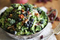 Broccoli Salad with Honey Toasted Walnuts ‹ Hello Healthy