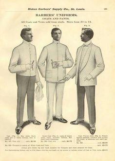 vintage school barber uniforms.
