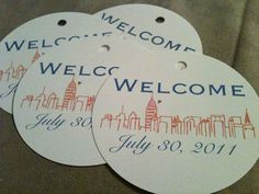 Out of town welcome bag tags