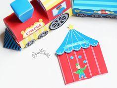 Circo stampabile compleanno circo partito tenda invito in rosso (su misura) della collezione Party circo di carta costruito