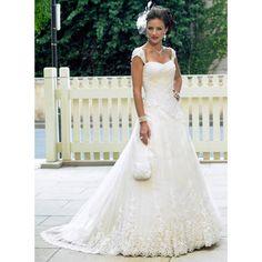 fall long outdoor bridal wedding dress