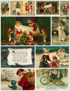 Vintage Christmas Collage Sheet