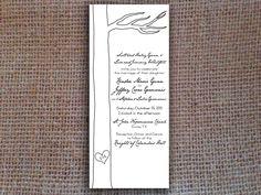 Rustic Wedding Invitation, Tree, DIY - Digital  File. $20.00, via Etsy.