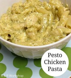 Looking for a delicious family-friendly meal? Try this simple recipe for Slow Cooker Pesto Chicken Pasta! #CrockPot #SlowCooker #recipe #pasta