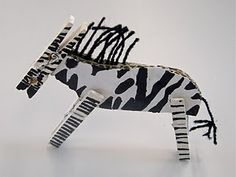 Cute Clothespin Zebras!  Love the Murals...