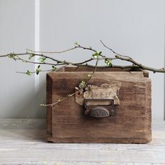 Antique Wood Planter Box