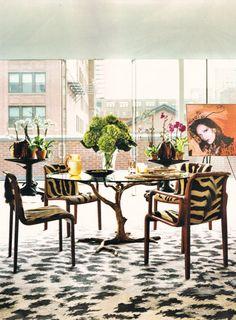 Inside the home of Diane Von Furstenberg.