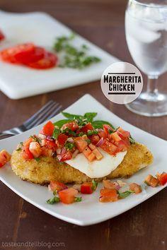 Margherita Chicken | www.tasteandtellblog.com | #chicken #recipe