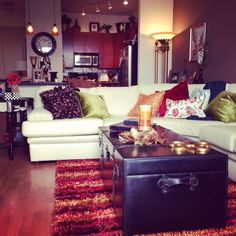 couch, colorful living rooms, hous, color live