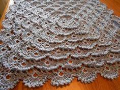 Manta Cobija tejida del centro a la orilla Crochet parte 1/2 - YouTube