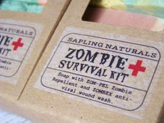 Zombie Survival Kit Travel Size Soap houses, etsi, zombi, holidays, gifts, kit travel, soap, poisons, foxes