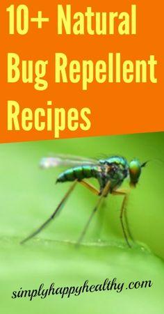 10+ Natural Bug Repellent Recipes - simplyhappyhealthy.com