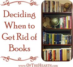 Are books taking over your house? Take a look at these tips linked on A Bowl Full of Lemons for some help. The weekly round up and links are great!