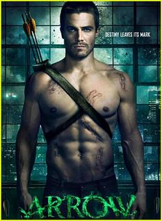Stephen Amell from the new show Arrow. The show looks promising after seeing this picture!