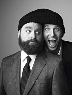 Zach Galifianakis and Bradley Cooper