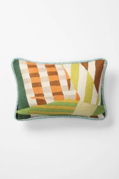 Anthropologie Geometric Colorfield Collage Pillow