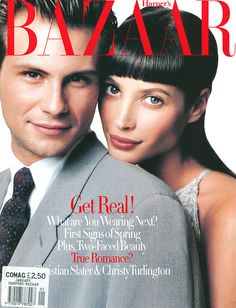 Bazaar january 1994 - Christy Turlington & Christian Slater