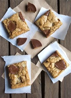 Peanut Butter Cup Blondies for Peanut Butter Lovers!