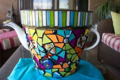 Bright Teapot-Pot with grandkids' names worked into it