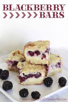 Blackberry Bars @thediaryofdaveswife