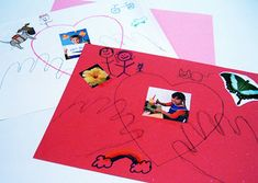 "This simple ""all about me"" activity also allows children to create a one-of-a-kind Valentine's Day card."
