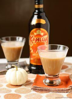 Kahlúa Pumpkin Spice and Butterscotch schapps together make a tasty fall drink!