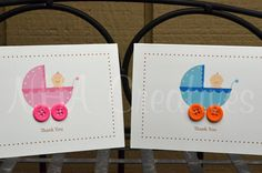 cute baby shower thank you cards