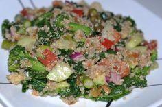 vegan salad, quinoa salad