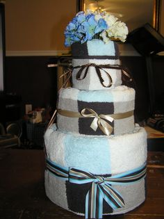 Wedding Towel Cake by Edna J. Williams